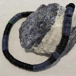 Blauquarz Picassomarmor Kette