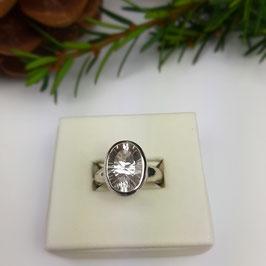 Klarer Bergkristall Ring Gr. 54,5