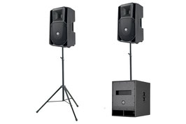 2x RCF Top + 1x RCF Bass - Aktivlautsprecher