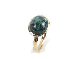 Ring in Roségold 585/000 mit grünem Turmalin