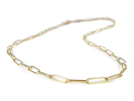 """Collier """"Paper-Clip"""" in Gelbgold 750/000"""