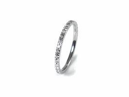 Memoire-Ring in Weißgold 585/000 mit Brillanten