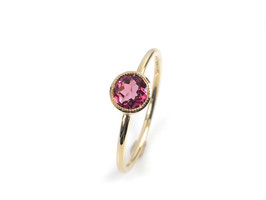 Ring in Roségold 585/000 mit rosa Turmalin