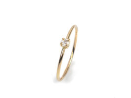 Ring in Gelbgold 750/000 mit Brillant