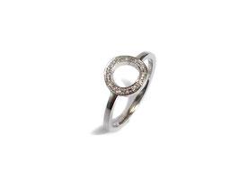 Ring in Weißgold 585/000 mit Brillanten