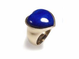Ring in Gelbgold 585/000 mit Lapislazuli Herz
