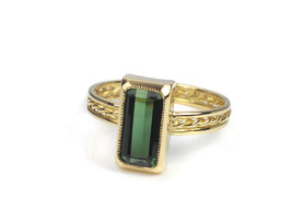 Ring in Gelbgold 750/000 mit Turmalin