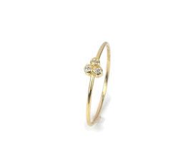 Ring in Gelbgold 750/000 mit 3 Brillanten