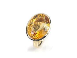 Ring in Gelbgold 585/000 mit Citrin