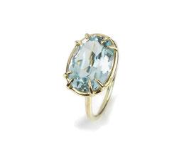 Ring in Gelbgold 585/000 mit Aquamarin