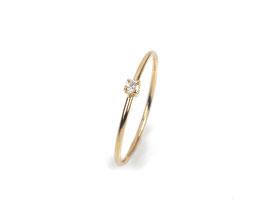 Leider verkauft - Ring in Gelbgold 750/000 mit Brillant