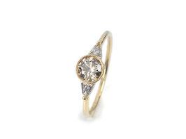 Ring in Roségold 585/000 und Platin 950/000 mit Brillanten