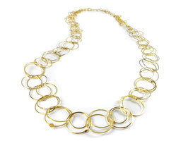 "Collier ""Ringe"" in Gelbgold 750/000"