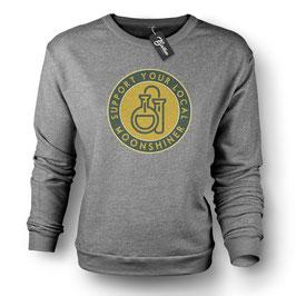 Balkan Apparel - Support your local Moonshiner Crewneck Sweater Damen