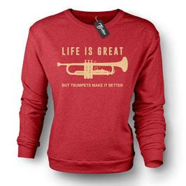 Balkan Apparel - Life is Great Crewneck Sweater Damen