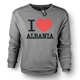 Balkan Apparel - I Love Albania Crewneck Sweater Damen