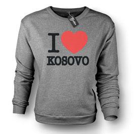 Balkan Apparel - I Love Kosovo Crewneck Sweater Damen