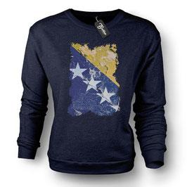 Balkan Apparel - Bosna Flag Crewneck Sweater Damen