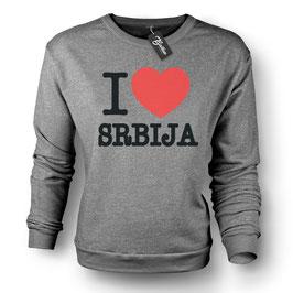 Balkan Apparel - I Love Srbija Crewneck Sweater Damen