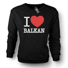 Balkan Apparel - I Love Balkan Crewneck Sweater Damen