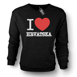 Balkan Apparel - I Love Hrvatska Crewneck Sweater Damen