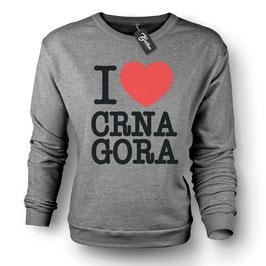 Balkan Apparel - I Love Crna Gora Crewneck Sweater Damen
