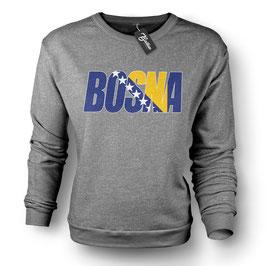 Balkan Apparel - Bosna Flagfont Crewneck Sweater Damen