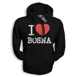 Balkan Apparel - I Love Bosna Hooded Sweat Damen