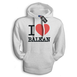Balkan Apparel - I Love Balkan Hooded Sweat Damen