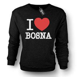 Balkan Apparel - I Love Bosna Crewneck Sweater Damen