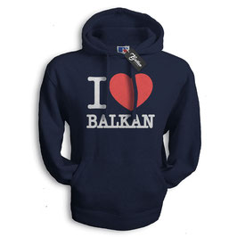 Balkan Apparel - I Love Balkan Hooded Sweat Herren