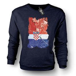 Balkan Apparel - Hrvatska Flag Crewneck Sweater Damen
