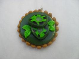Pendentif tarte au kiwi