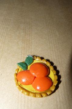 Pendentif tarte à l'abricot