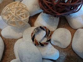 """Rund geflochtener Ring -  mit 925er Silber Perle """"Wellen"""""""