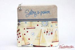 maritime Kosmetiktaschche -Sailing is passion