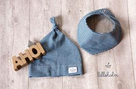 Knotenmütze mitHalstuch Newborn #Ahoi
