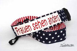 Kameragurt Kameraband -Women-stars-maritim-USA-