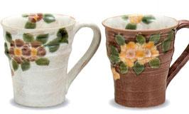 ペアマグカップ 海棠(青良窯)