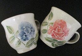ペアマグカップ バラ