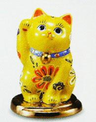 小判乗り招き猫 黄盛