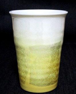 フリーカップ 銀彩 黄色(白地)