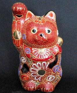 招き猫 4号 赤盛