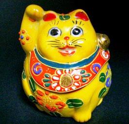 招き猫 2号 黄盛