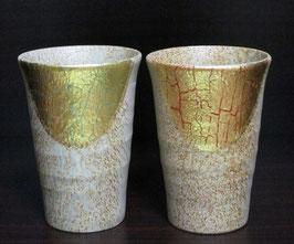 ペアフリーカップ 金箔彩