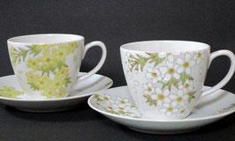 ペアカップ&ソーサー 二色彩花
