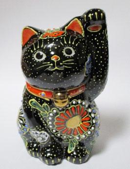 招き猫 3.3号 黒盛