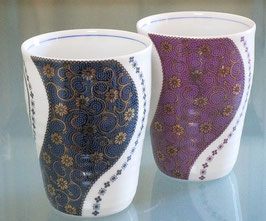 ペアフリーカップ 二色粒曲水