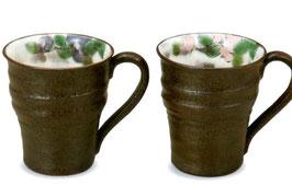ペアマグカップ 椿(青良窯)