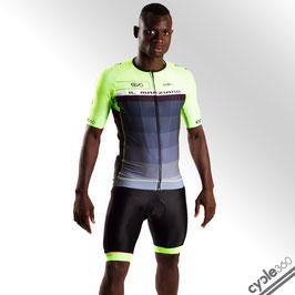 Maillot ciclista media manga alta de gama PRO EVO 2018 mod. MARZIANO verde